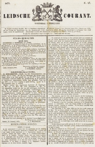 Leydse Courant 1871-02-01