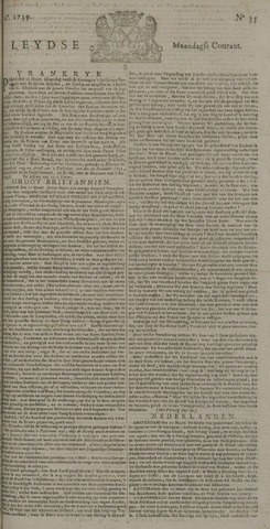 Leydse Courant 1739-03-23