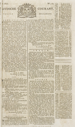 Leydse Courant 1825-01-28
