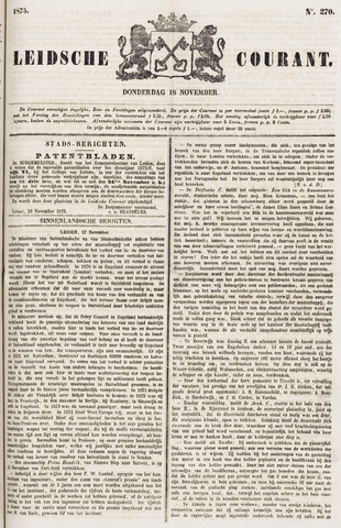 Leydse Courant 1875-11-18