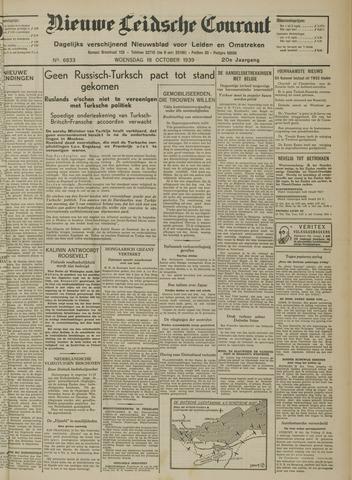 Nieuwe Leidsche Courant 1939-10-18