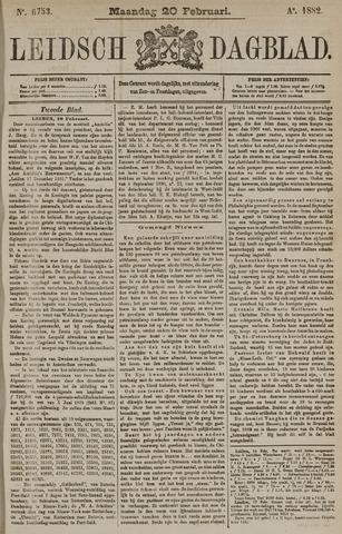 Leidsch Dagblad 1882-02-20