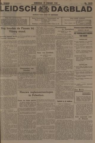 Leidsch Dagblad 1940-02-29