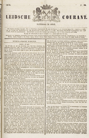 Leydse Courant 1873-04-26
