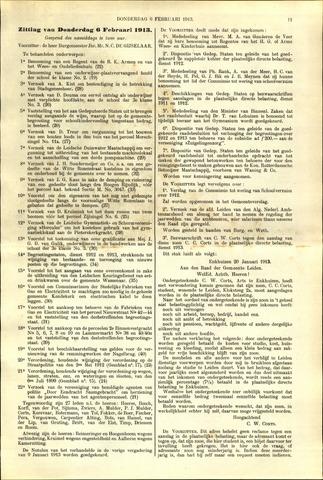 Handelingen van de Raad 1913-02-06