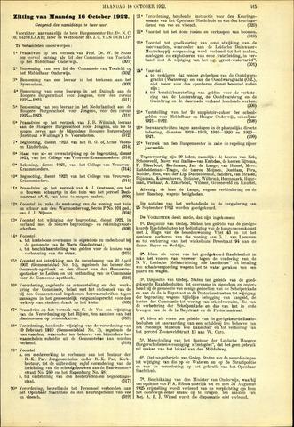 Handelingen van de Raad 1922-10-16