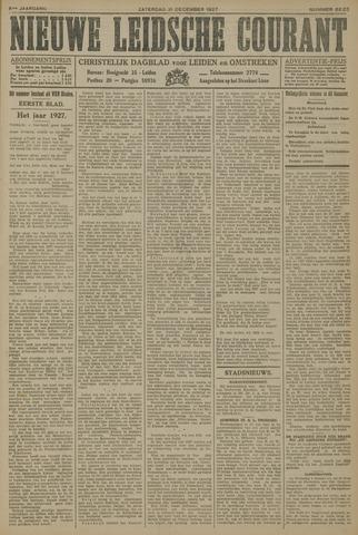 Nieuwe Leidsche Courant 1927-12-31