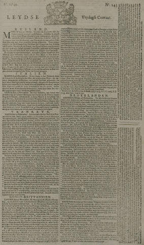Leydse Courant 1749-11-28