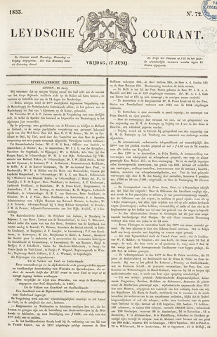 Leydse Courant 1853-06-17