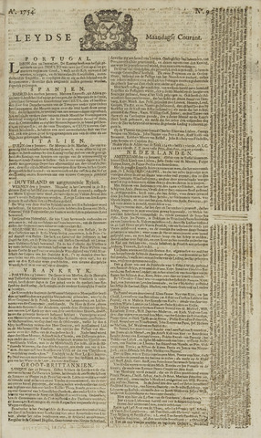 Leydse Courant 1754-01-21