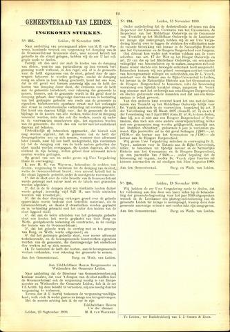 Handelingen van de Raad 1899-11-11