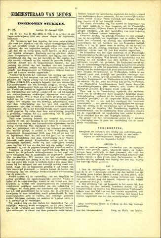 Handelingen van de Raad 1926-01-20