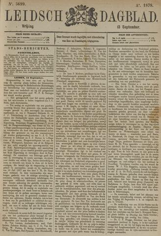 Leidsch Dagblad 1878-09-13