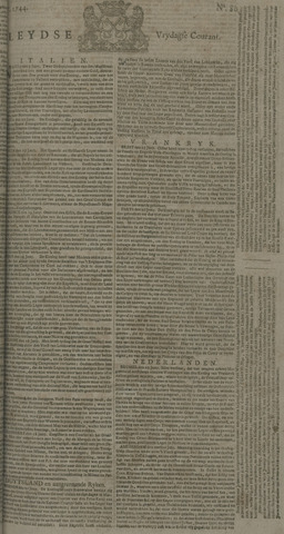 Leydse Courant 1744-07-03