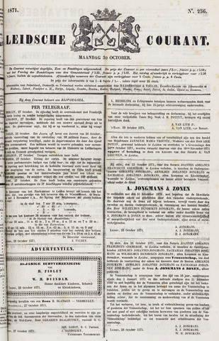 Leydse Courant 1871-10-30