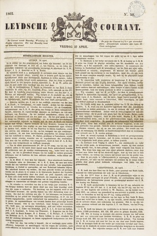 Leydse Courant 1862-04-25