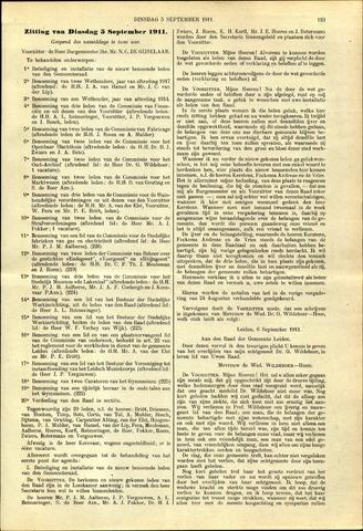 Handelingen van de Raad 1911-09-05