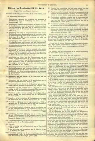 Handelingen van de Raad 1918-05-23
