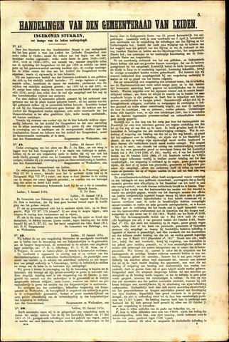 Handelingen van de Raad 1874-01-15