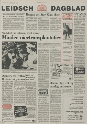 Leidsch Dagblad 1985-09-18