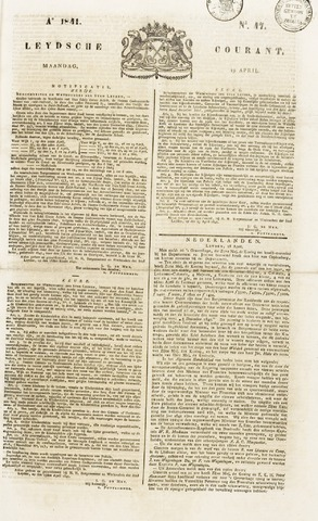 Leydse Courant 1841-04-19