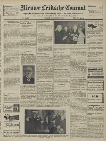 Nieuwe Leidsche Courant 1938-11-04