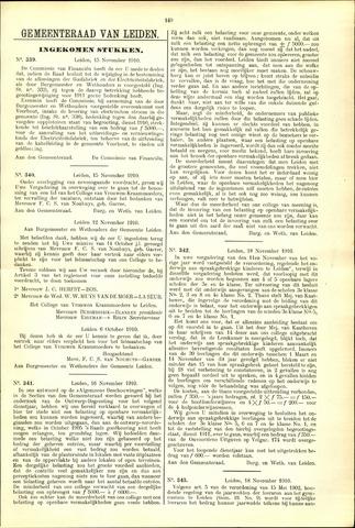 Handelingen van de Raad 1910-11-15
