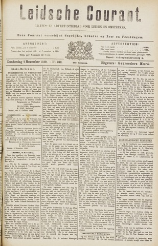 Leydse Courant 1889-11-07