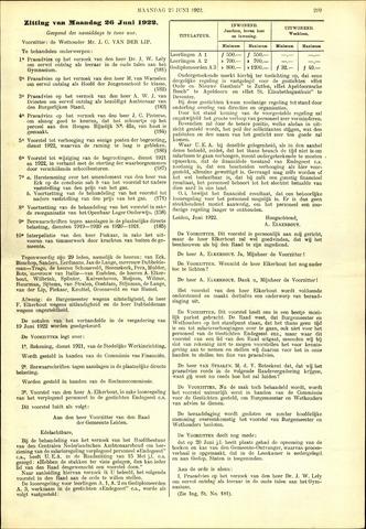 Handelingen van de Raad 1922-06-26