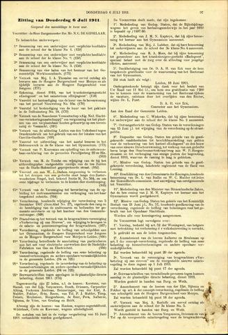 Handelingen van de Raad 1911-07-06