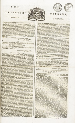 Leydse Courant 1841-08-09