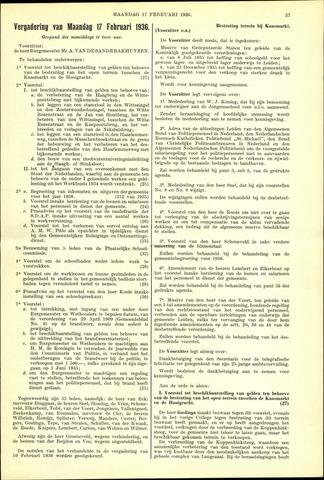 Handelingen van de Raad 1936-02-17