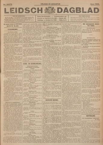 Leidsch Dagblad 1926-08-20