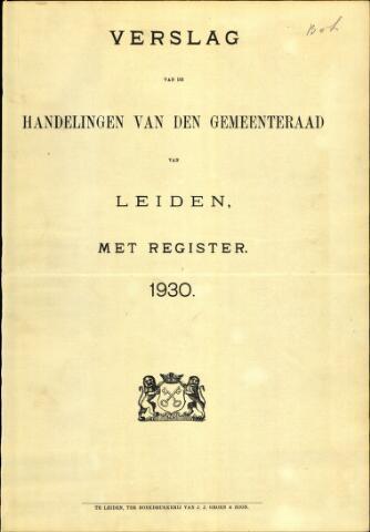 Handelingen van de Raad 1930-01-01