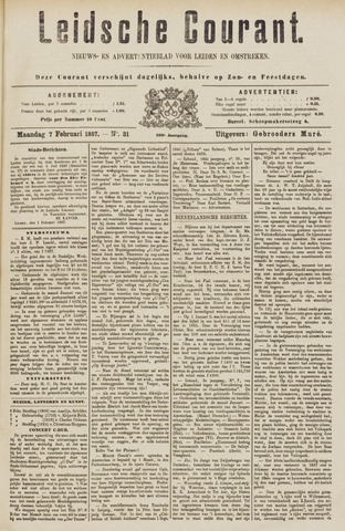 Leydse Courant 1887-02-07