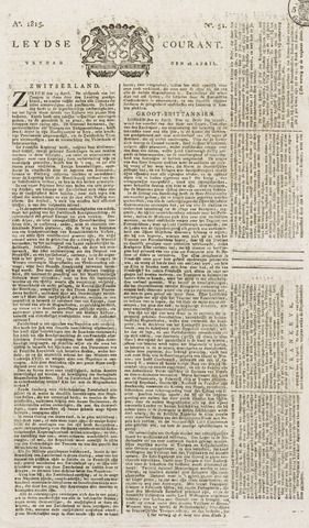 Leydse Courant 1815-04-28