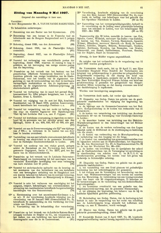 Handelingen van de Raad 1927-05-09