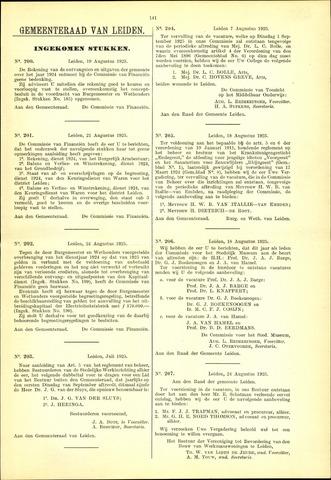 Handelingen van de Raad 1925-08-19