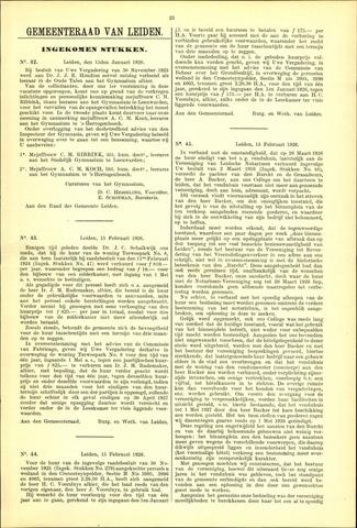 Handelingen van de Raad 1926-01-15