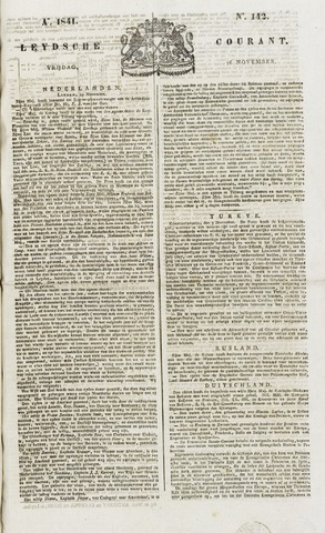 Leydse Courant 1841-11-26