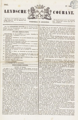 Leydse Courant 1865-08-16
