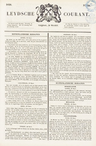 Leydse Courant 1850-03-29