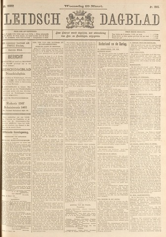 Leidsch Dagblad 1915-03-10