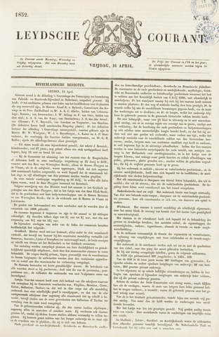 Leydse Courant 1852-04-16
