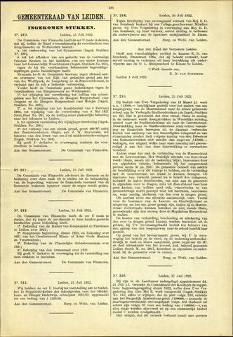 Handelingen van de Raad 1922-07-15