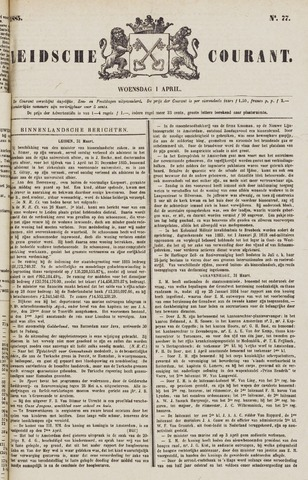 Leydse Courant 1885-04-01