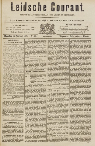 Leydse Courant 1887-02-14