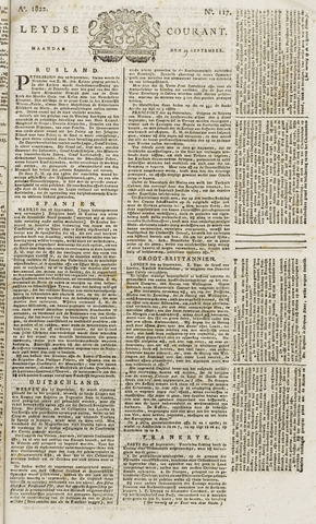 Leydse Courant 1822-09-30