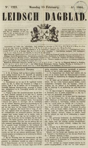 Leidsch Dagblad 1864-02-15