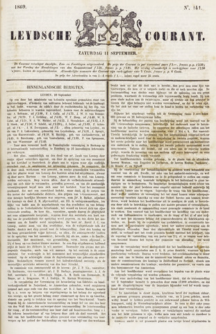 Leydse Courant 1869-09-11